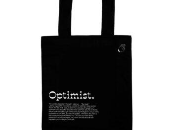 """Экосумка """"Оптимист – гораздо больше, чем ты думаешь"""""""